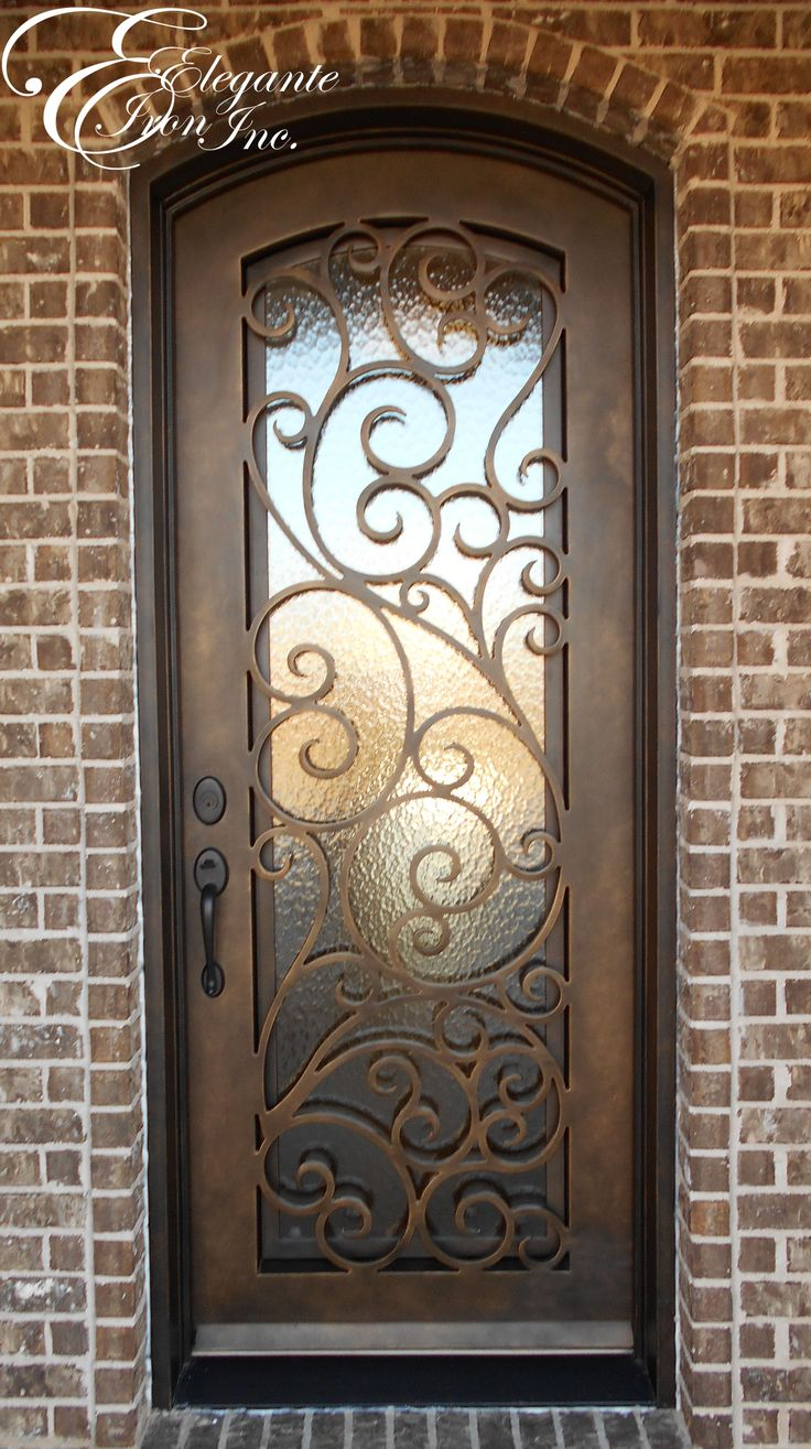 Custom Wrought Iron Door Single Doors Pinterest