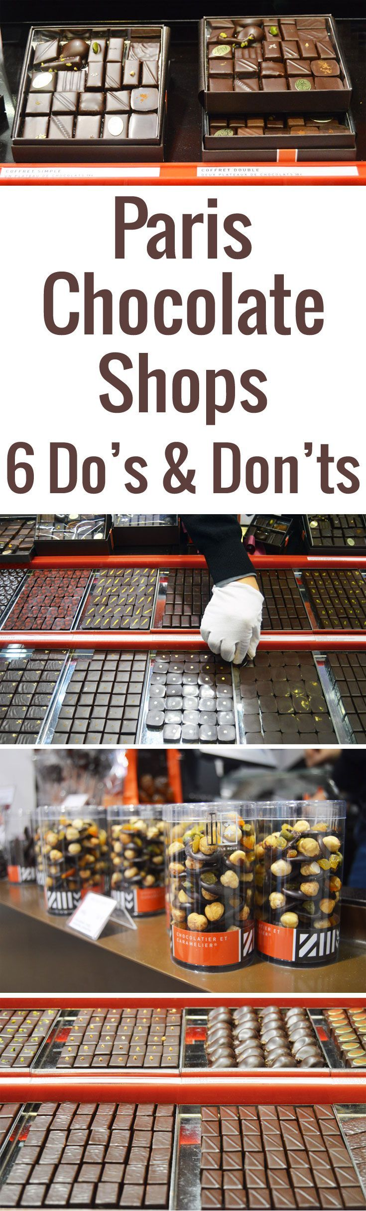 Learn to navigate Paris chocolate shops just like a Parisian with this handy insider guide! Includes Top 5 Paris Chocolate Shops you must visit.