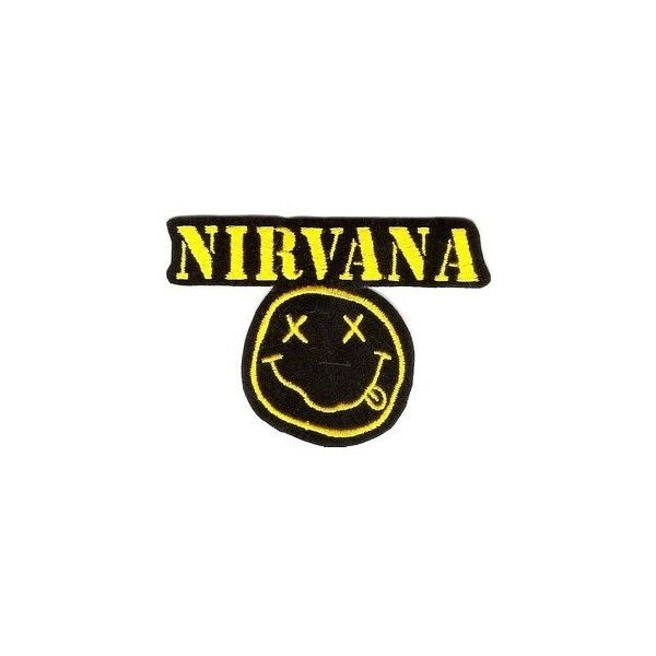 NIRVANA Music Band Logo Jacket T shirt Patch Sew Iron on Embroidered... ❤ liked on Polyvore featuring costumes, sports halloween costumes, sport halloween costumes, sports costumes and halloween costumes