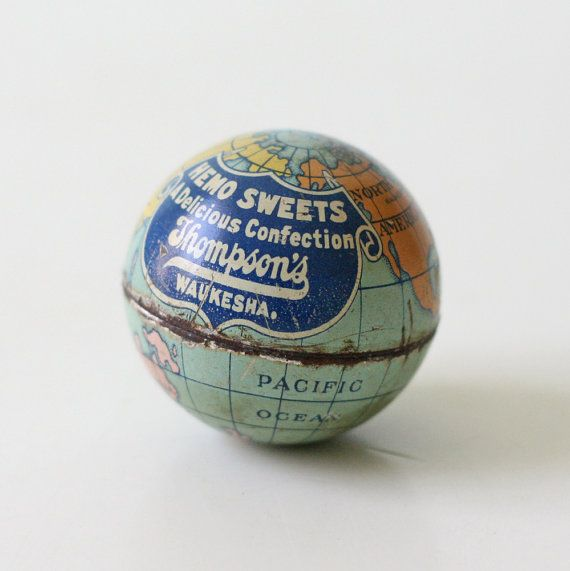 Via Etsy: Tiny Vintage Globe Candy Container - Hemo Sweets bellalulu