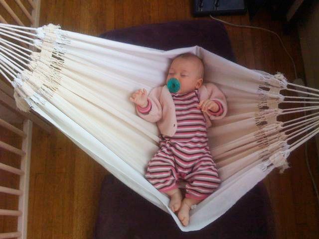 Schattige baby hangmat