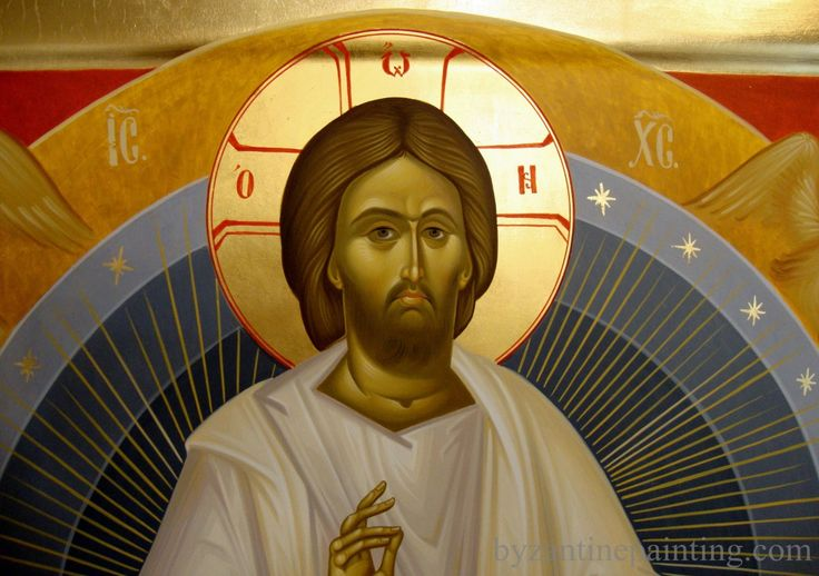 Icon Jesus Christ on the throne of glory