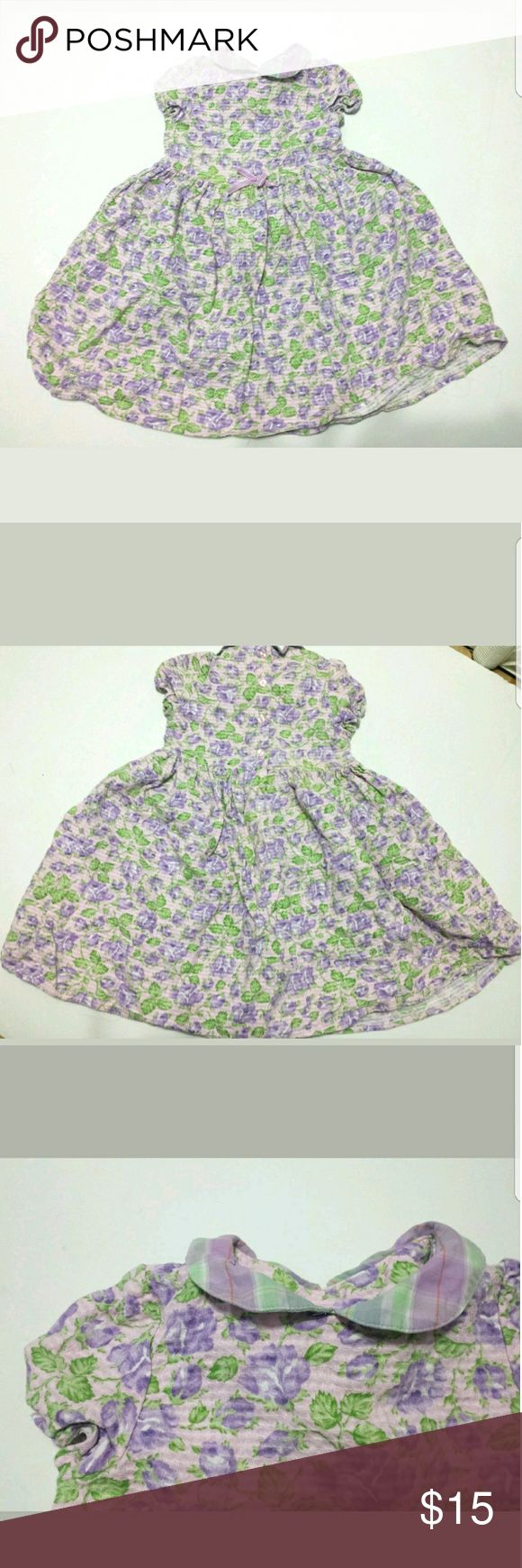 Girls Purple Floral Dress 6x B. LULU Boutique Girls size 6x B. Lulu Boutique Floral dress in Purple/ Lilac Flowers with light green leaves. Vintage looking in good condition. Please take a look at all the pictures LULU B. Dresses