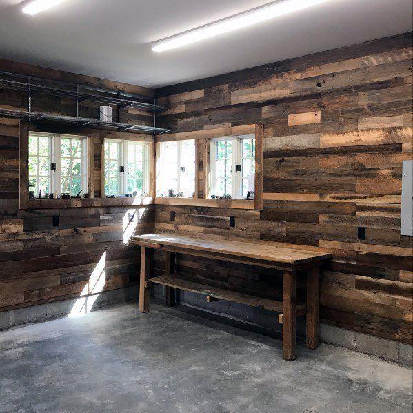Bauen Sie Eine Fertige Garage Mit Geringem Budget Der Prozess War Bauen Budget Der Eine In 2020 Garage Design Interior Wood Interior Design Wood Interior Walls