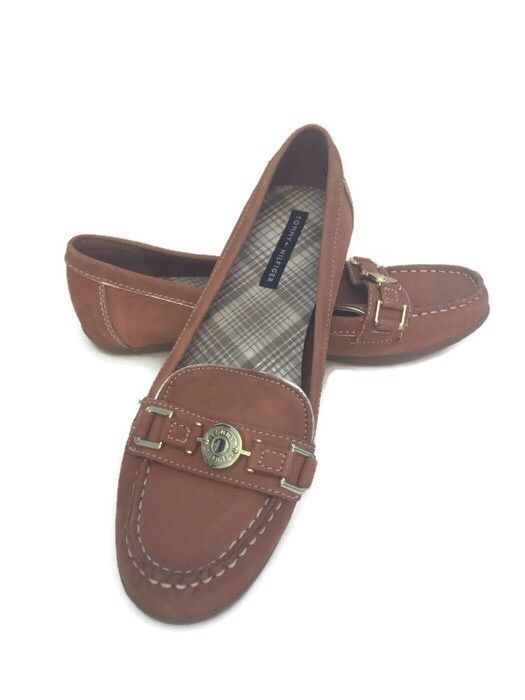 0a68c2facee Tommy Hilfiger Brown Leather Loafers Women s Size 9