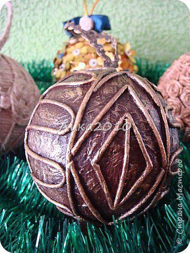 Вот такие шарики дополнили мои ёлочные украшения в этом году. фото 5