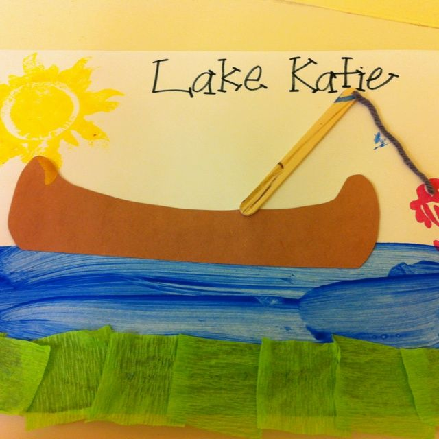 Preschool Camping Canoe Craft