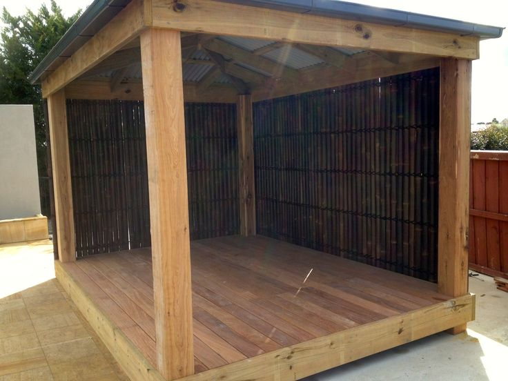 A Gazebo featuring some of our beautiful bamboo panels!