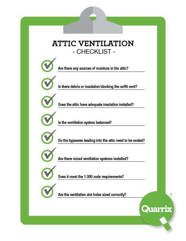 Attic Ventilation Checklist Attic Ventilation Ventilation Ventilation System