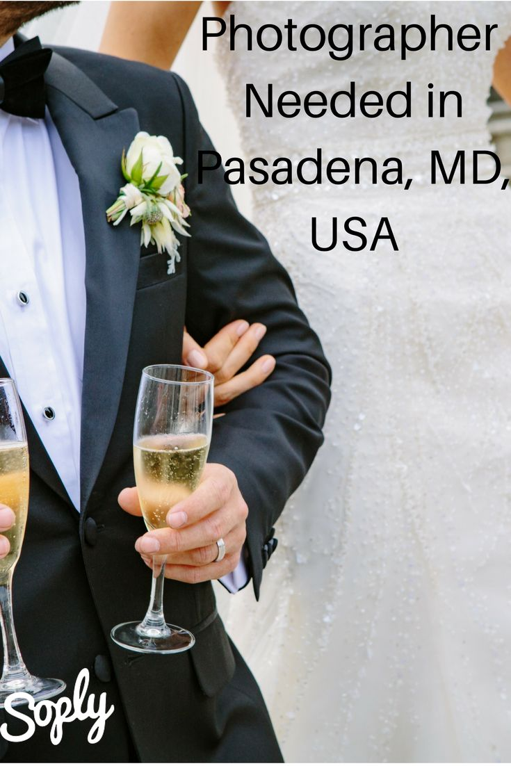 Wedding photographer needed in Pasadena,MD USA. The wedding is on a waterfront venue on April 29, 2017. See the job and speak to the client by clicking the pin!