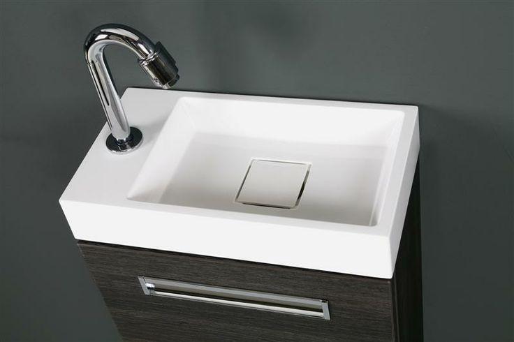 Thebalux Toiletmeubel Global detail wastafel (op onderkast eiken antraciet)