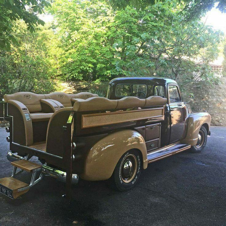 Old school truck would be great for groomsmen transport to the wedding & wedding party transport once on property.