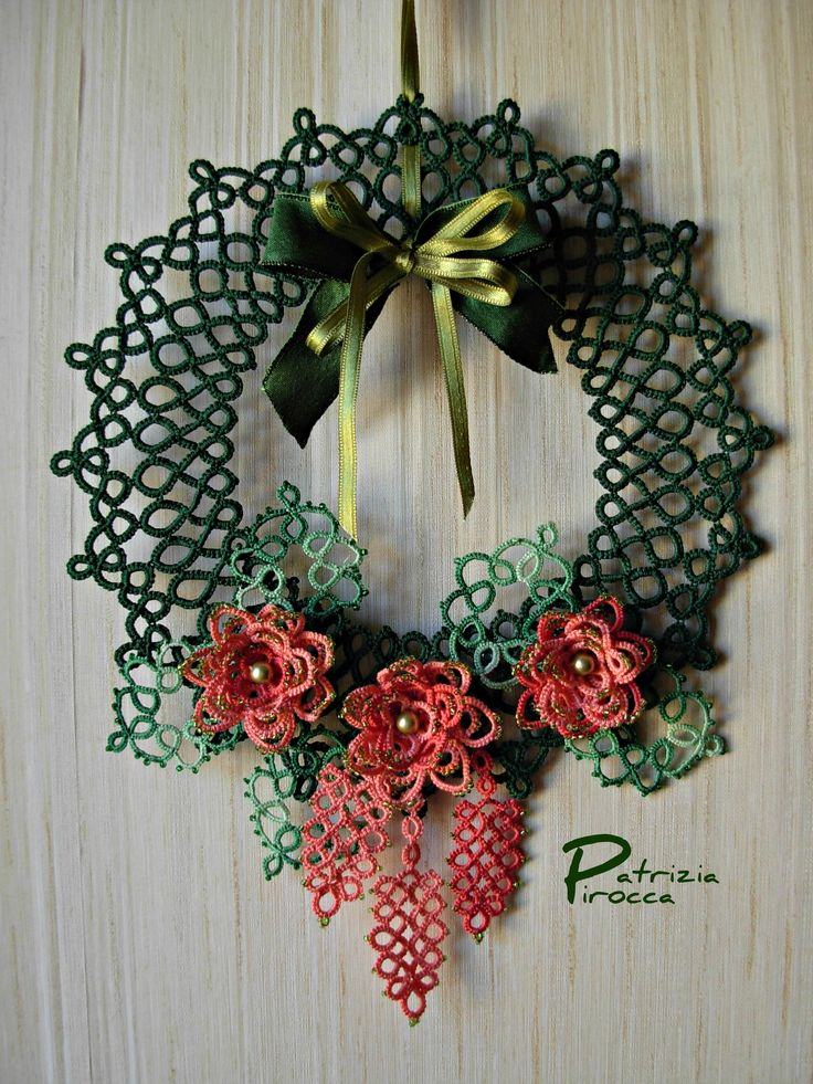 tatted wreath