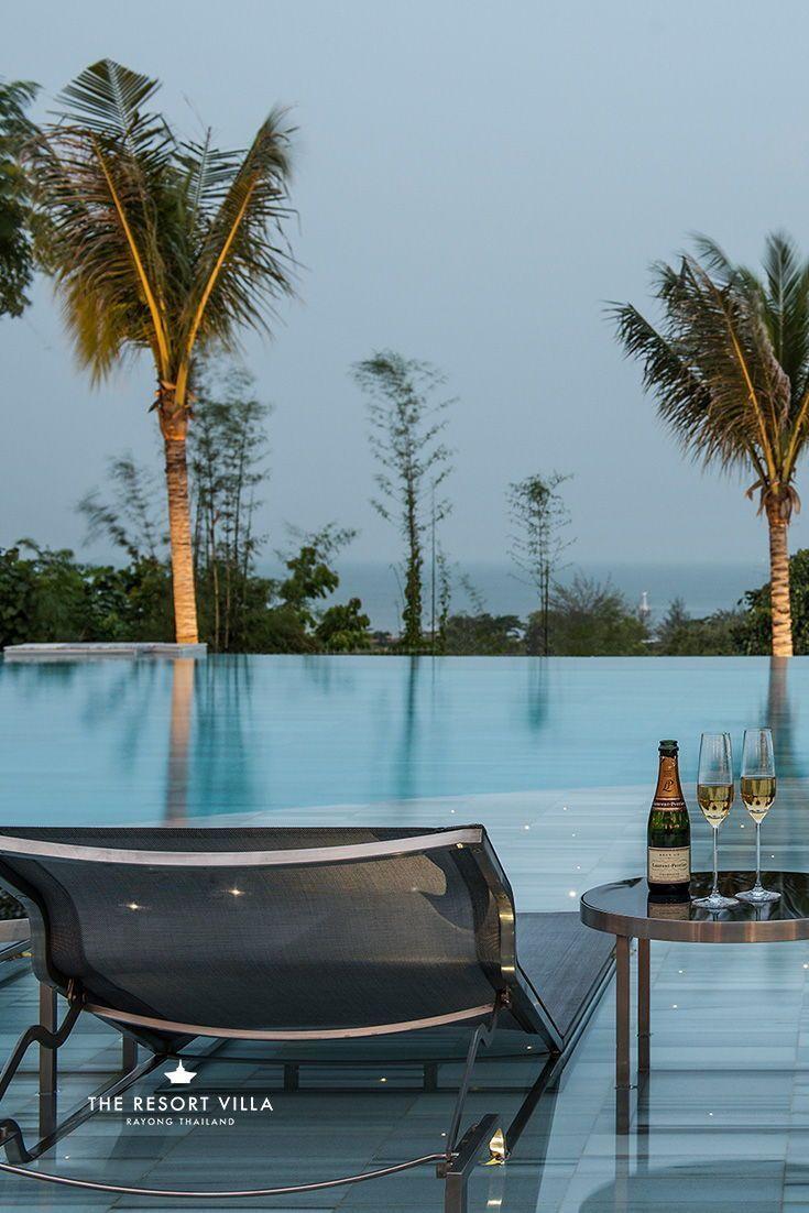 Poolside At The Resort Villa Luxury Resort In Thailand Resort Pools Resort Villa Luxury Resort