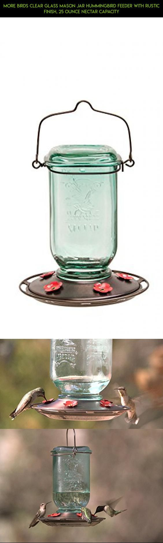 More Birds Clear Glass Mason Jar Hummingbird Feeder with Rustic Finish, 25 Ounce Nectar Capacity #shopping #plans #tech #hummingbird #drone #parts #racing #products #gadgets #kit #fpv #decor #technology #camera #outdoor