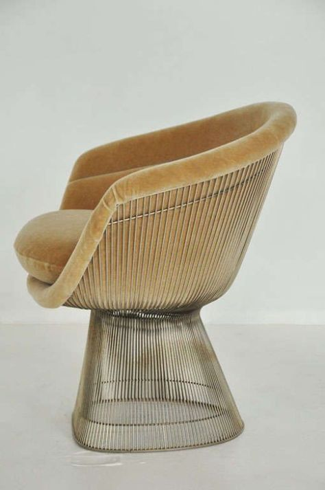 View This Item And Discover Similar Lounge Chairs For Sale At   Warren Platner  Lounge Chair For Knoll. Chrome/nickel Frame With New Mohair Upholstery.