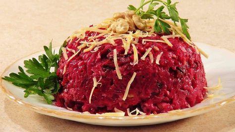 Cum să faci din sfecla roșie o salată rafinată italiană!Două rețete de salate:sfeclă roșie în stil coreean si sfecla rosie cu cașcaval și nuci! - Retete-Usoare.eu
