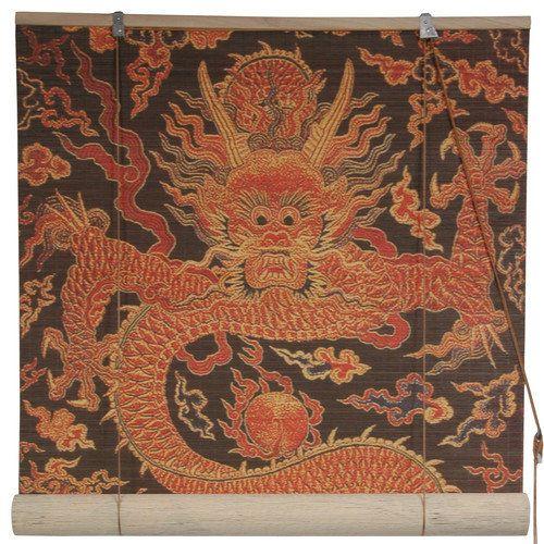 Oriental Furniture Dragon Design Bamboo Blinds: Decor : Walmart.com
