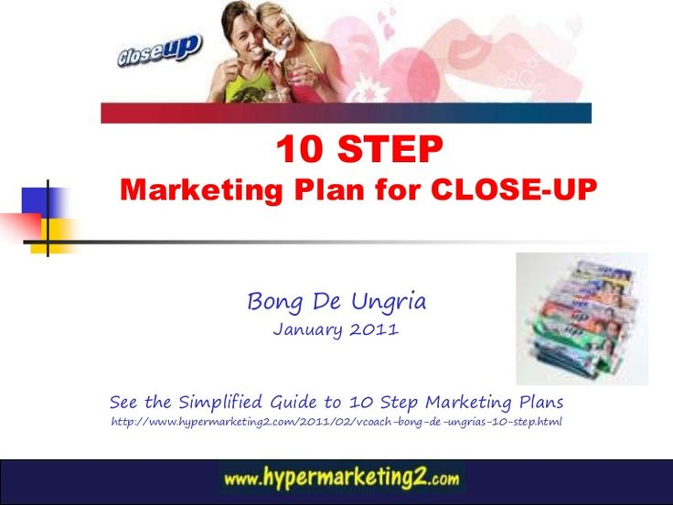 10 step marketing plan for Close up Toothpaste 2011