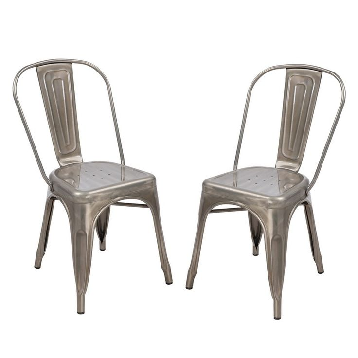 Adeco Stackable Industrial Chic Tolix Style Dining Cafe lounge Bistro Chair   Outdoor and Indoor  Silver Gun Metal  Set of Two81 best Joveco Dining Chairs   Joveco com images on Pinterest  . Metal Cafe Chairs Sale. Home Design Ideas