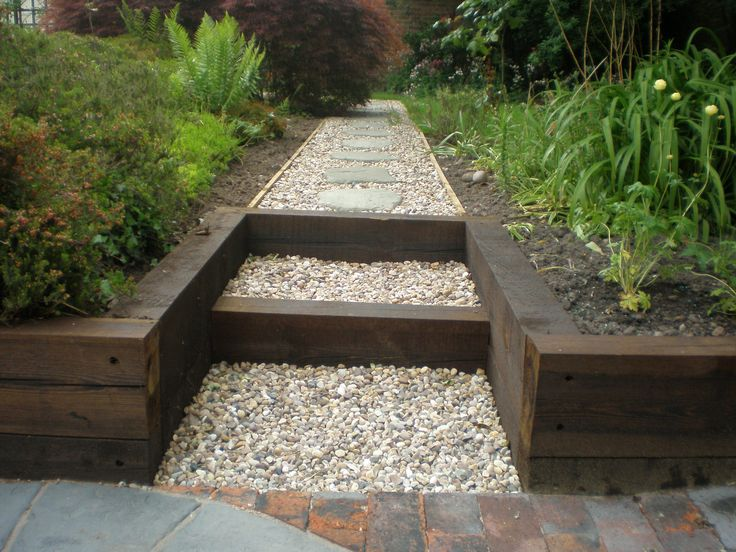 railway sleepers just arrived.  Good luck hubby doing this!