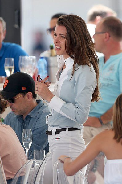 Charlotte Casiraghi at the Longines Athina Onassis Horse Show June 5, 2015 in Saint-Tropez, France.