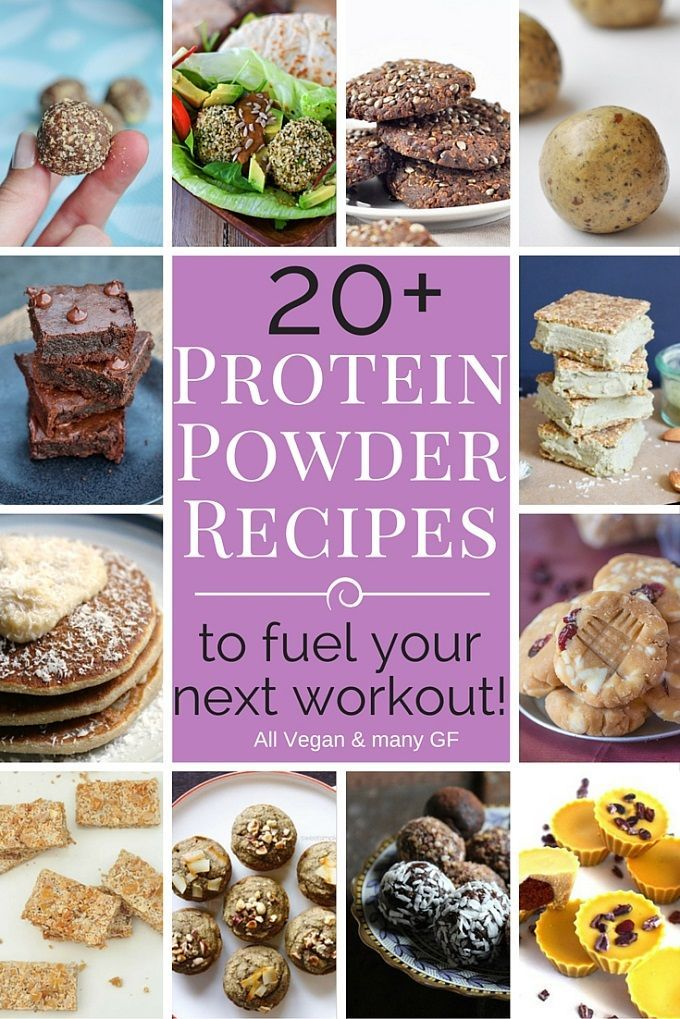20+ Vegan Protein Powder Recipes. Most protein powder recipes are also gluten-free. Healthy plant-based protein bars, cookies, balls, pancakes and more.