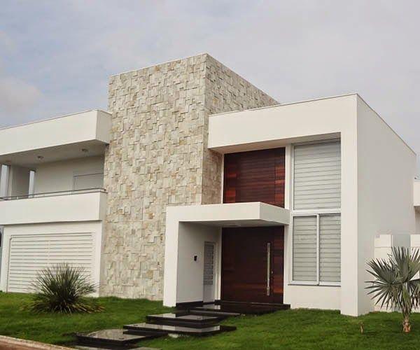 25 melhores ideias sobre fachadas de casas no pinterest for Fachadas exteriores modernas