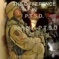 Difference between C-PTSD  PTSD  Although similar, Complex Post Traumatic Stress Disorder (C-PTSD) differs slightly from the more commonly understood  diagnosed condition Post Traumatic Stress Disorder (PTSD) in causes and symptoms.  C-PTSD results more from chronic repetitive stress from which there is little chance of escape. PTSD can result from single events, or short term exposure to extreme stress or trauma.  Therefore a soldier returning from intense battle may be likely to sho