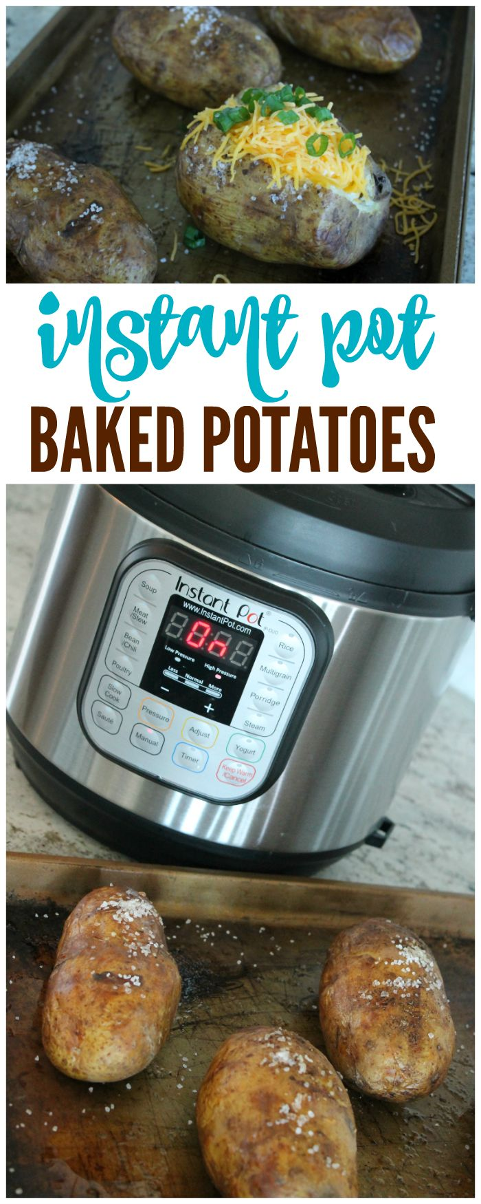 I Want To Show Y'all How To Make Baked Potatoes In The Instant Pot