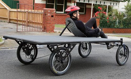 flatbed cargo cycle trailer bike - For more great pics, follow www.bikeengines.com