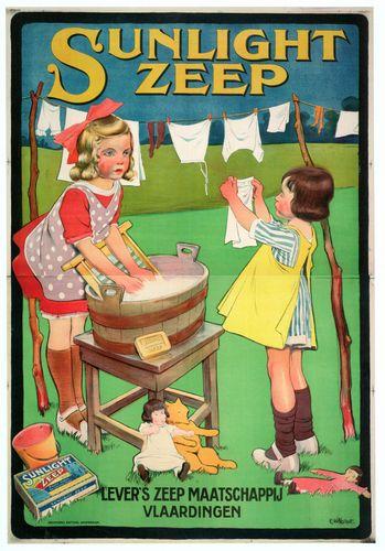 old Dutch Sunlight soap ad