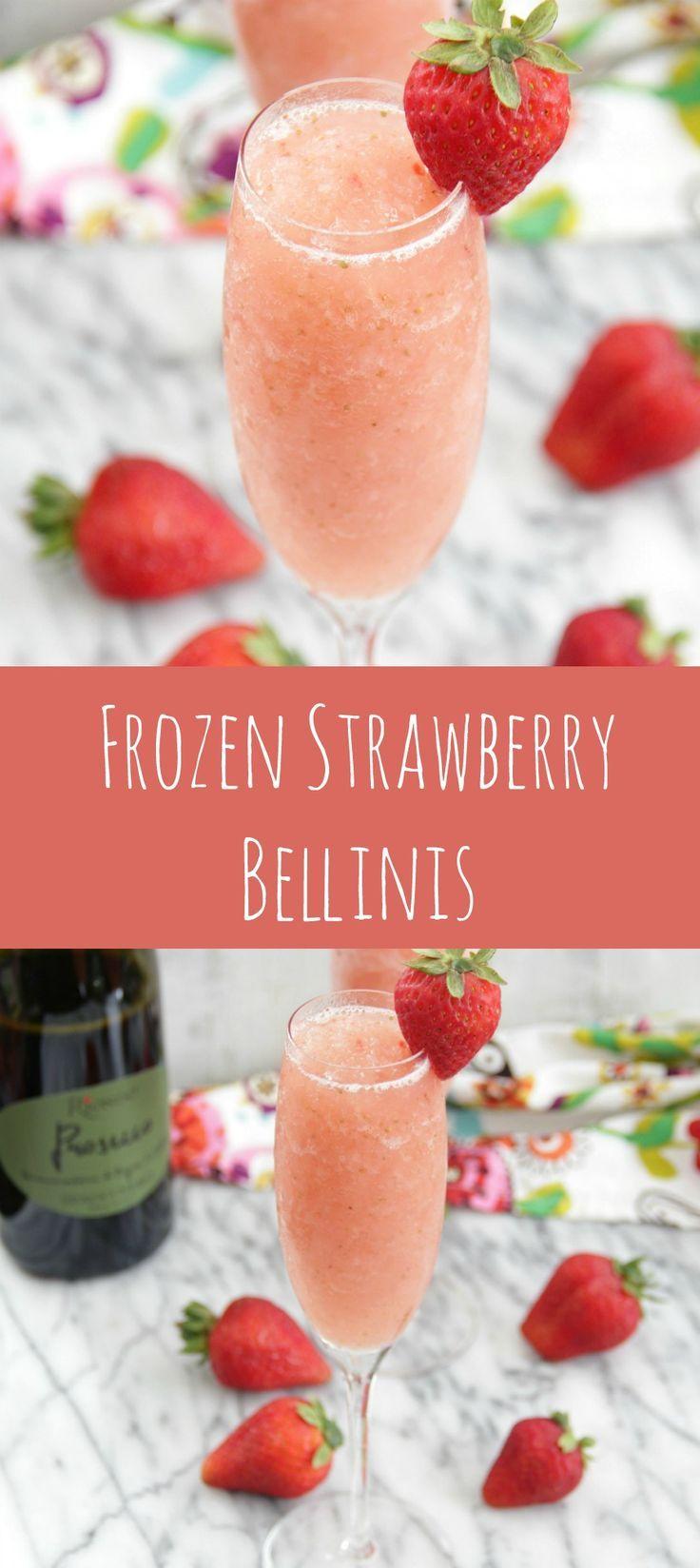 Frozen Strawberry Bellinis #riondoprosecco #italianforsummer #sponsored