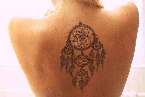 dreamcatcher tattoo.
