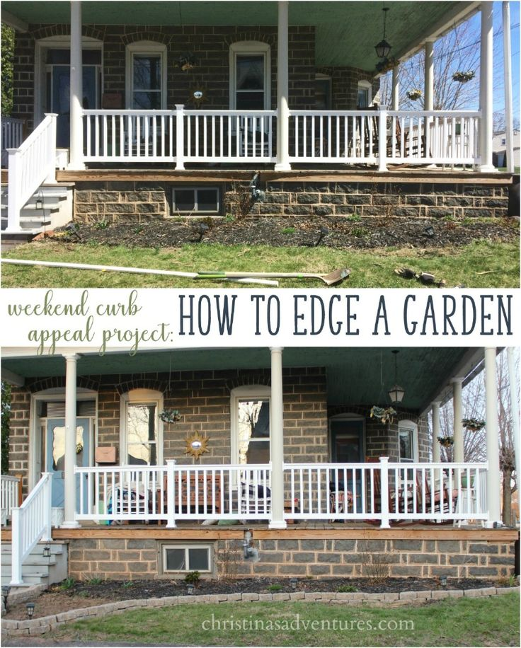 weekend curb appeal project how to edge a garden