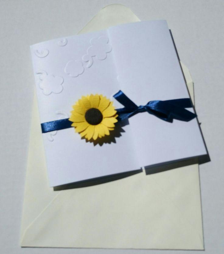 Invitație nunta - Floarea soarelui