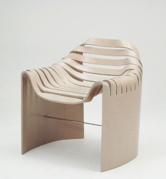 new molded plywood chair by naruse inukuma
