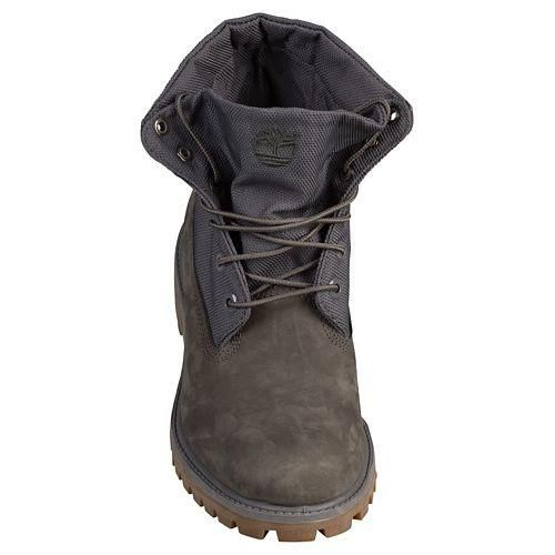 A style unlike any other. The Timberland Roll Top Boot rolls down for a little built-in air conditioning and a whole lotta style. Premium, full-grain leather up