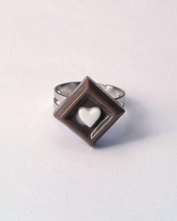 Chocolate Candy Adjustable Ring  Kawaii Ring Kawaii Jewelry