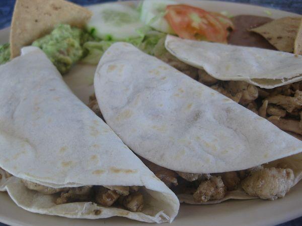 Chicken Tacos from Señor Iguanas Restaurant & Bar – San Miguel – Cozumel, Mexico