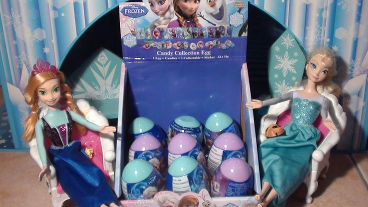 Anna and Elsa Frozen Surprise Candy Collection eggs  Toddler's first sur...