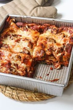Mushroom Lasagna, try with Zucchini Noodles