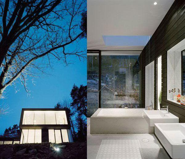 Ultra modern hillside house casa barone interior exterior pint