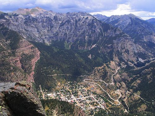 Ouray, Colorado. One of my favorite little mountain towns.