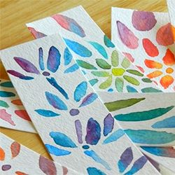 Bright watercolor flower bookmarks .... perfect for spring!