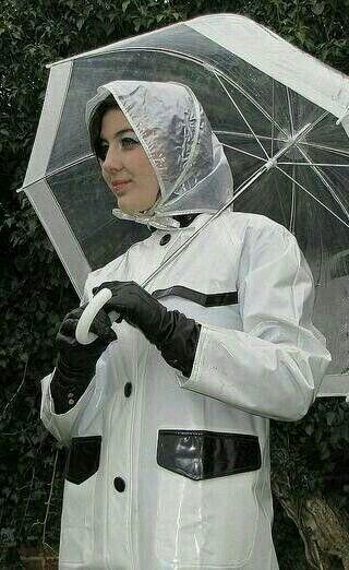 White pvc mack | Rainwear | Raincoat jacket, Raincoat ...