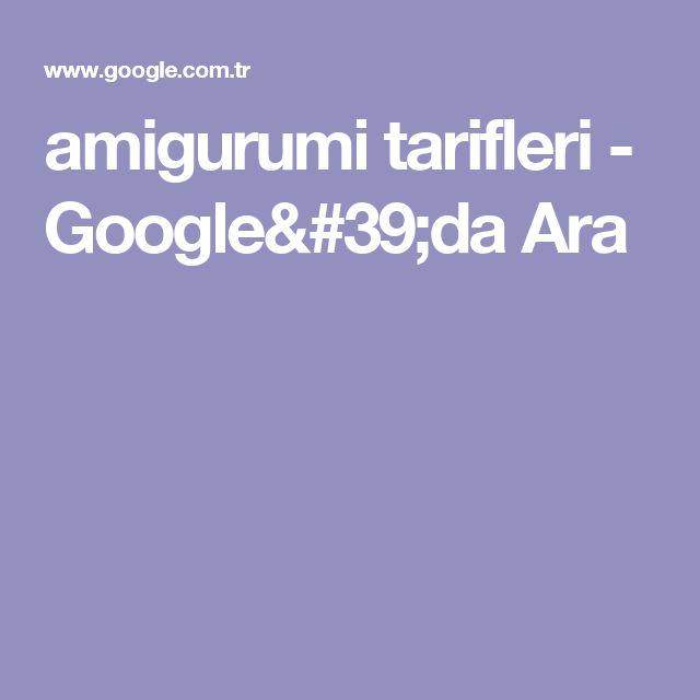 amigurumi tarifleri - Google'da Ara