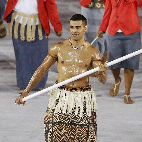 C'est ou Tonga deja? #tonga #rio2016 #olympics #babyoil