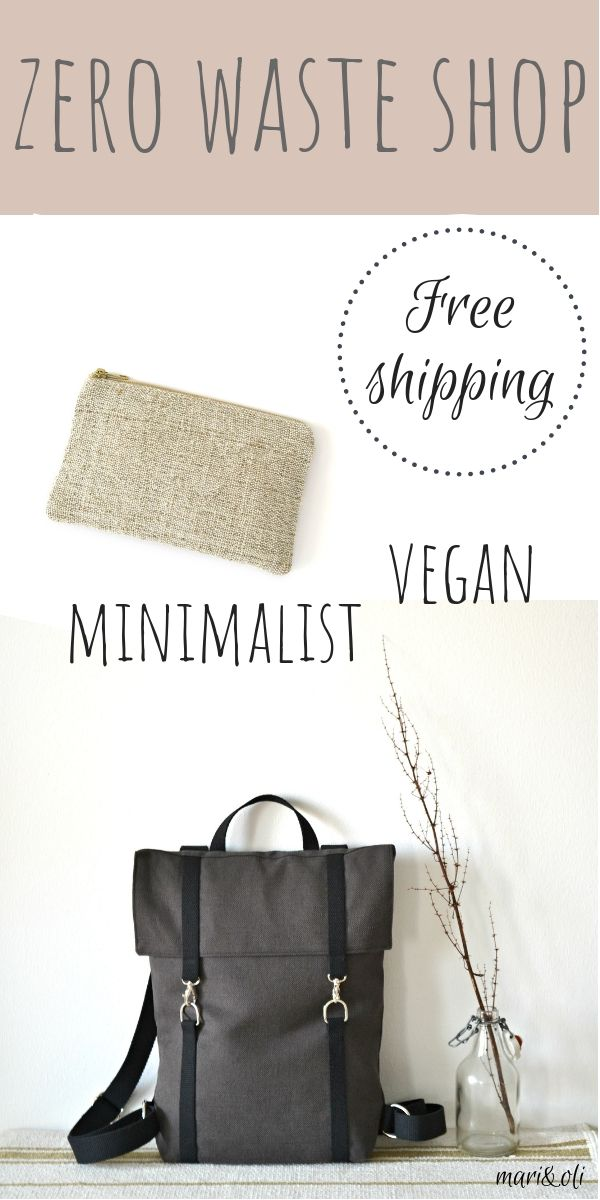 a08ea079ae1 Zero waste vegan backpacks