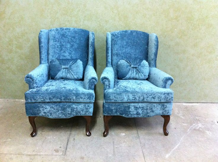 2 #wing #chaira after #reconstructed #refinished and #reupholstered by AM Furniture Finishing